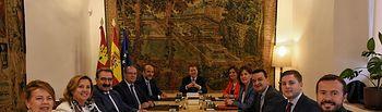 El presidente de Castilla-La Mancha, Emiliano García-Page, preside en el Palacio de Fuensalida, la primera reunión del nuevo Consejo de Gobierno. (Foto: Moncho Márquez // JCCM). Foto: Jose Ramon Marquez//JCCMM