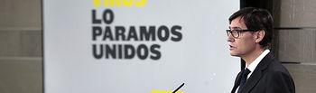 El ministro de Sanidad, Salvador Illa, durante su comparecencia en rueda de prensa telemática en La Moncloa. El ministro de Sanidad, Salvador Illa, durante su comparecencia en rueda de prensa telemática en La Moncloa. Foto: Pool Moncloa www.lamoncloa.gob.es