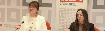 Mª Ángeles Castellanos, secretaria de Empleo y Políticas Sociales, y Rosario Martínez, secretaria de Mujeres e Igualdad.