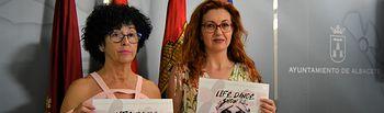 Juani García y la presidenta de la Asociación de Ayuda contra el Síndrome Depresivo (Lassus), Mercedes Sánchez.