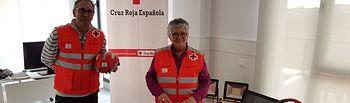 La Presidenta Provincial Lola Moreno junto a parte del material.