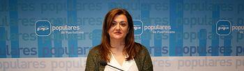 María Antonia Berlanga, portavoz del Grupo Municipal Popular en el Ayuntamiento de Puertollano.