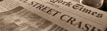 Crack Bursatil de 1929 - Periódico de la época.