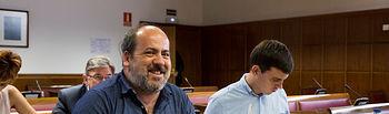 Los senadores Óscar Guardingo y Ferran Martínez. Foto: IRENE LINGUA