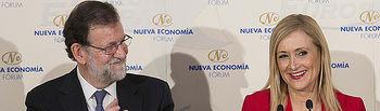 """moderación""""  Mariano Rajoy presenta a Cristina Cifuentes en el Nueva Economía Fórum"""