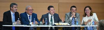 El presidente de Castilla-La Mancha, Emiliano García-Page, inaugura el IX Congreso Mundial del Jamón Curado, en el Palacio de Congresos 'El Greco' de la capital regional. (Fotos: José Ramón Márquez//JCCM)