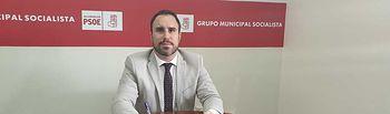 Germán Nieves, concejal del Grupo Municipal Socialista en el Ayuntamiento de Villarrobledo.