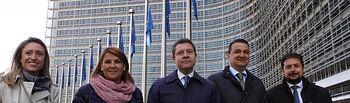 Entrega de informe del Tajo en Bruselas. (FOTOS: Cristina Fernández Garcíaa-Viso//JCCM)