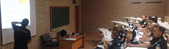 Visita a la Escuela Nacional de Policía de Ávila. Foto: JCCM.