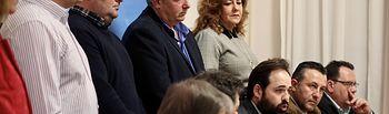 Paco Núñez, durante la rueda de prensa que ha ofrecido en la Diputación de Ciudad Real.