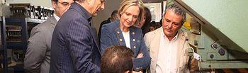 Carmen Casero visita ANFRAMA. Foto: JCCM.