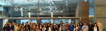 Grupo de alumnos desplazados a Valencia.