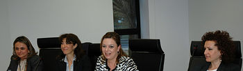 De zqda a dcha, Carmen González, Marina Gascón, Nuria Garrido y Josefa Cantero.