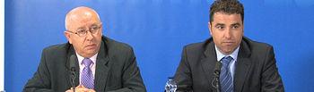 Foto de archivo. El delegado de la Junta en Albacete, Modesto Belinchón, junto al delegado provincial de Trabajo y Empleo, Florencio López.