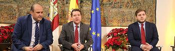 El presidente de Castilla-La Mancha, Emiliano García-Page, ha ofrecido hoy, en el Palacio de Fuensalida, un desayuno informativo a los medios de comunicación en el que ha avanzado algunas de las principales líneas de acción del Ejecutivo autonómico para el próximo año. (Foto: José Ramón Márquez // JCCM)