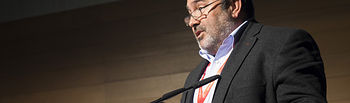 Carlos Pedrosa, secretario general de UGT Castilla-La Mancha, en el Congreso Regional de UGT.