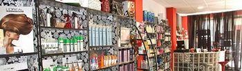 Productos de peluquería. Imagen de archivo.