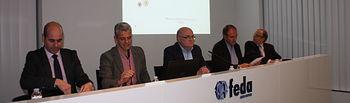 Fotografía de las Jornadas Informativas desarrolladas en la sede de FEDA con representantes del tejido empresarial sobre el Plan Adelante.