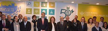 Álvaro Gutiérrez con las autoridades asistentes al acto de nombramiento de Padrino de Marsodeto