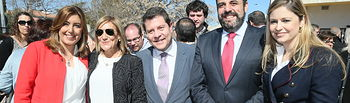 Los presidentes de Castilla-La Mancha, Emiliano García-Page, y Andalucía, Susana Díaz, inauguran, la nueva sede de la Casa de Andalucía en el municipio guadalajareño de Azuqueca de Henares. (Fotos: Ignacio López//JCCM)