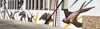 Mural en Bogarra.