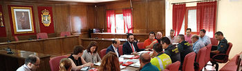 Un momento de la reunión de la Junta Local de Seguridad. Fotografía: Ayuntamiento de Azuqueca