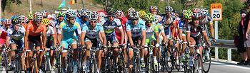 Vuelta ciclista a España. Imagen de archivo.