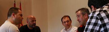 Reunión Angel León y Jesús Crespo de CCOO-Industria con José Gª Molina y David Llorente de Podemos