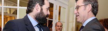 El presidente del PP-CLM, Paco Núñez, ha asistido al Desayuno Informativo de Nueva Economía Forum con el presidente de la Xunta de Galicia y candidato del PP Gallego, Alberto Núñez Feijóo.