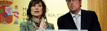 GRAF9638. MADRID, 16/01/2019.- El secretario de Estado de Industria y PYME, Raúl Blanco y la secretaria de Estado de Empleo Yolanda Valdeolivas, durante la rueda de prensa ofrecida esta mañana en el Ministerio de Industria en Madrid.-EFE/Juan Carlos Hidalgo