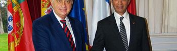 El ministro del Interior, Jorge Fernández Díaz, junto a su homólogo marroquí, Mohamed Hassad. (Foto: Ministerio del Interior)