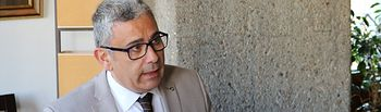 El secretario general de UPTA de Castilla-La Mancha, César García, en una imagen de archivo.