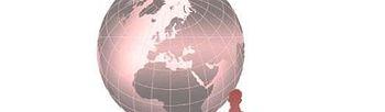 Dibujo de la bola del mundo con personas