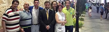 Luengo con alcaldesa y concejales