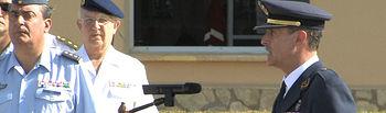 Guillermo Cavo Muñoz tomando posesión de su nuevo cargo como Coronel Jefe de la Base Aérea de Los Llanos y del Ala 14 y Comandante Militar Aéreo del Aeropuerto de Valencia