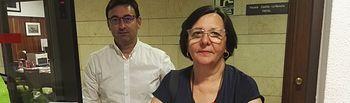 Victoria Delicado, diputada provincial de Ganemos-IU y Daniel Martínez, asesor jurídico del Grupo Provincial.