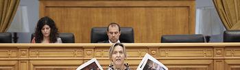 Un momento de la intervención de Ana Guarinos en las Cortes. Foto: CARMEN TOLDOS