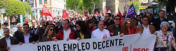 Manifestación del primero  de Mayo en Albacete.