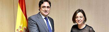 Ángel Mariscal, alcalde de Cuenca, e Isabel Ambrosio, alcaldesa de Córdoba