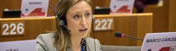 23 March 2017, 122nd Plenary Session of the Committee of the Regions .Belgium - Brussels - March 2017 .(C) European Union / Koen Blankaert.Virginia MARCO CÁRCEL, Director General for Institutional relations and EU affairs of Castilla-La-Mancha Community