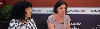 Mercedes Sánchez, presidenta de la Asociación Lassus e Isabel Muñoz, psicóloga de la Asociación Lassus