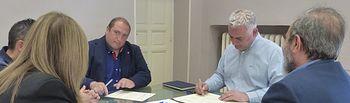 Convenio con Ayuntamiento de Molina de Molina de Aragón sobre el Geoparque.