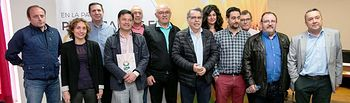 Encuentro mantenido por las distintas asociaciones y organizaciones agrarias el pasado mes de abril mostrando su postura conjunta en defensa del girasol.