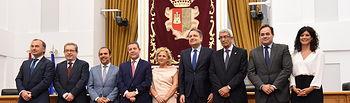 El presidente de Castilla-La Mancha, Emiliano García-Page asiste, en las Cortes regionales, a la toma de posesión de los miembros del Consejo Consultivo. (Fotos: José Ramón Márquez // JCCM).