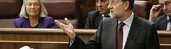 Mariano Rajoy en el Congreso. Foto: EFE.