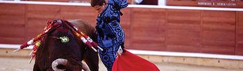 """""""El Juli"""" durante una de sus faenas en la corrida Goyesca del día 9 de septiembre en la Feria de Albacete."""
