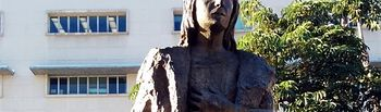 Estatua de Cristóbal Colón en el Grand Park de Los Ángeles. Foto: Wikipedia.