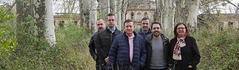 Los candidatos de Unidas Podemos por Albacete en el palacio de los Gosálvez