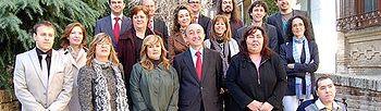 Lamata junto a los representantes de diferentes asociaciones con las que ha renovado hoy el convenio para el mantenimiento y funcionamiento de de 33 centros de atención a personas con capacidades diferentes de la provincia de Toledo.