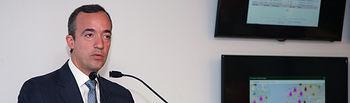 """Francisco Martínez: """"El intercambio ágil de información y la colaboración entre el sector público y privado son claves para adoptar una respuesta coordinada a las ciberamenazas"""". Foto: Ministerio del Interior"""